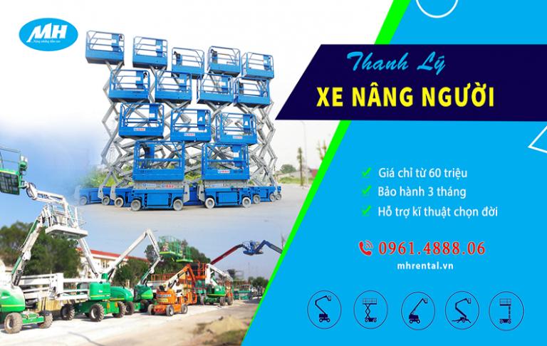 MH Rental cung cấp xe nâng người Genie tại Việt Nam