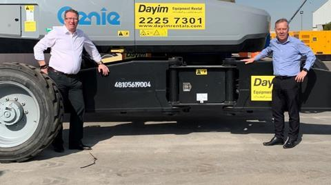 Chris Brocklehurst (left) and Andy Carter at Hertz Dayim